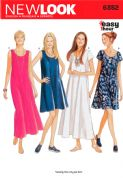 6352 New Look Pattern: Misses' Easy Flowing Summer Dresses